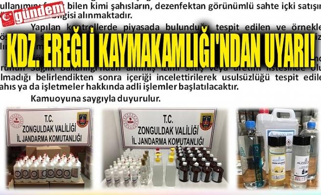 KDZ. EREĞLİ KAYMAKAMLIĞI'NDAN UYARI!