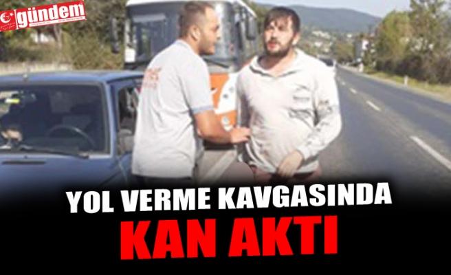 YOL VERME KAVGASINDA KAN AKTI
