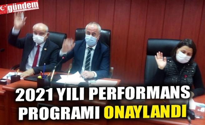 2021 YILI PERFORMANS PROGRAMI ONAYLANDI