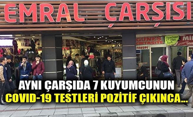 AYNI ÇARŞIDA 7 KUYUMCUNUN COVID-19 TESTLERİ POZİTİF ÇIKINCA...
