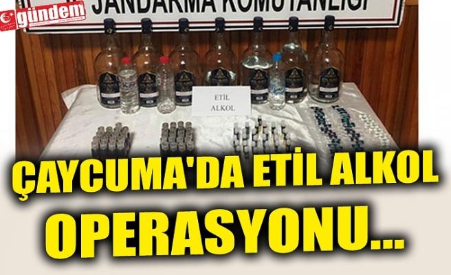 ÇAYCUMA'DA ETİL ALKOL OPERASYONU...