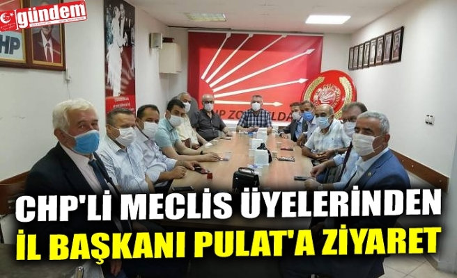 CHP'Lİ MECLİS ÜYELERİNDEN İL BAŞKANI PULAT'A ZİYARET