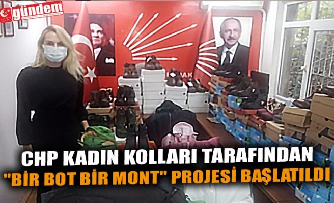 """CHP KADIN KOLLARI TARAFINDAN """"BİR BOT BİR MONT"""" PROJESİ BAŞLATILDI"""