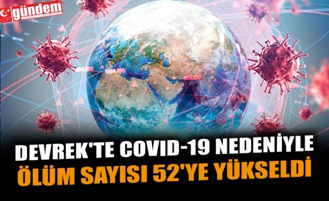 DEVREK'TE COVID-19 NEDENİYLE ÖLÜM SAYISI 52'YE YÜKSELDİ
