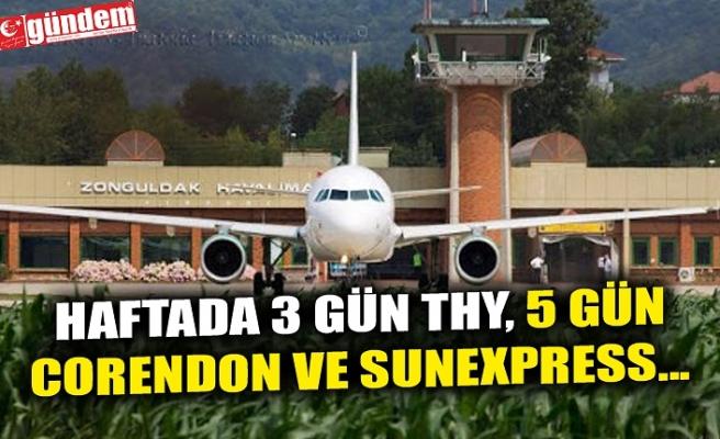 HAFTADA 3 GÜN THY, 5 GÜN CORENDON VE SUNEXPRESS...