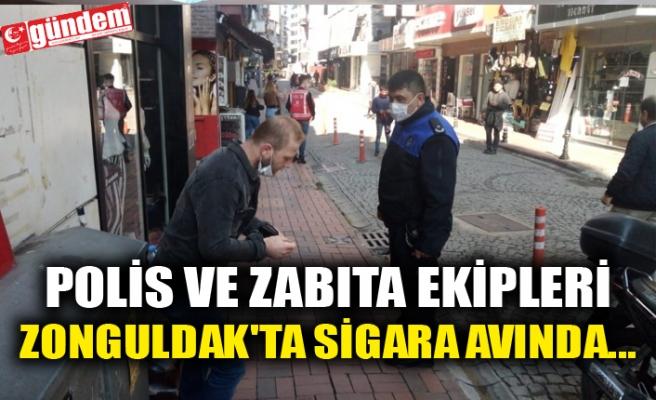 POLİS VE ZABITA EKİPLERİ ZONGULDAK'TA SİGARA AVINDA...