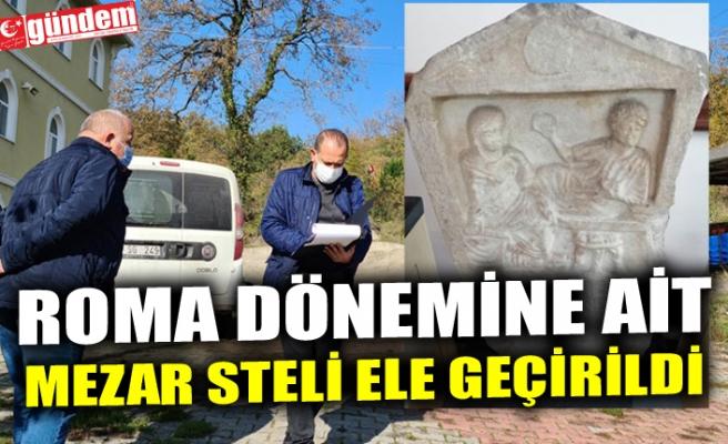 ROMA DÖNEMİNE AİT MEZAR STELİ ELE GEÇİRİLDİ