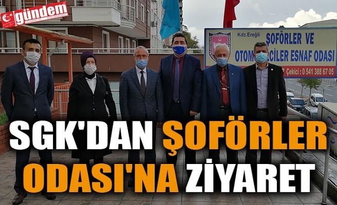 SGK'DAN ŞOFÖRLER ODASI'NA ZİYARET