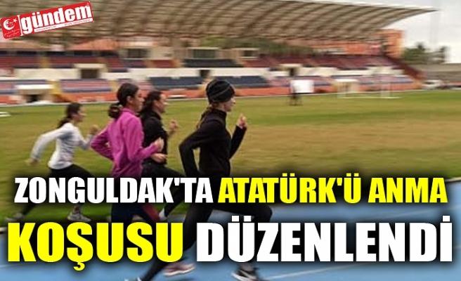 ZONGULDAK'TA ATATÜRK'Ü ANMA KOŞUSU DÜZENLENDİ