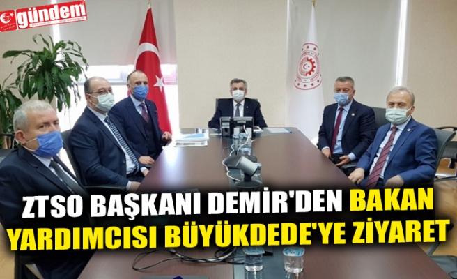 ZTSO BAŞKANI DEMİR'DEN BAKAN YARDIMCISI BÜYÜKDEDE'YE ZİYARET