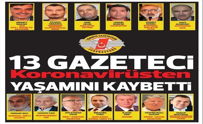 Türkiye'de koronavirüsten 13 gazeteci hayatını kaybetti