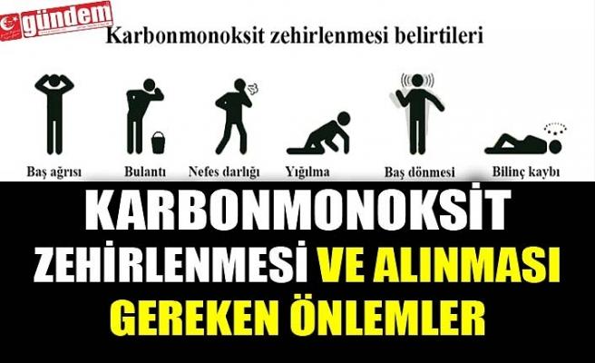 KARBONMONOKSİT ZEHİRLENMESİ ve ALINMASI GEREKEN ÖNLEMLER