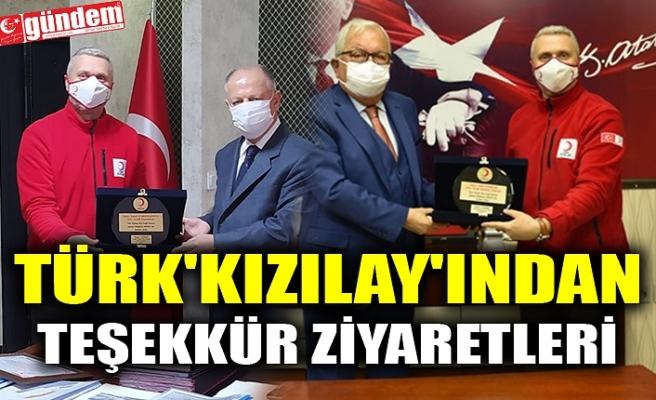 TÜRK'KIZILAY'INDAN TEŞEKKÜR ZİYARETLERİ