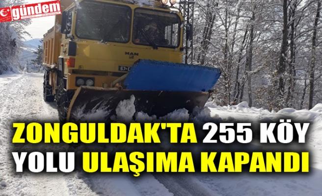 ZONGULDAK'TA 255 KÖY YOLU ULAŞIMA KAPANDI