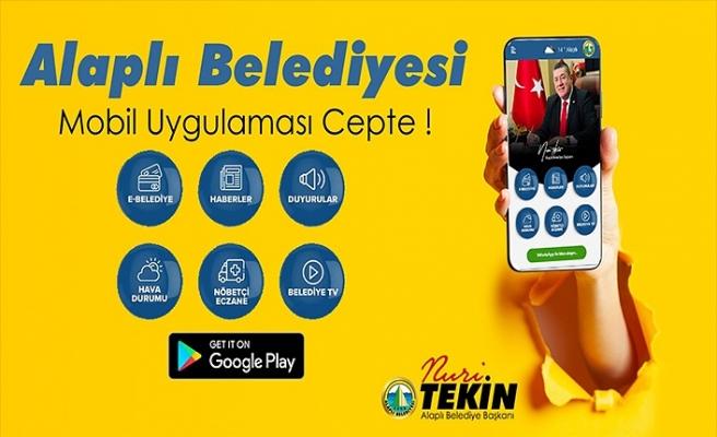 ALAPLI BELEDİYESİ ARTIK CEPTE !
