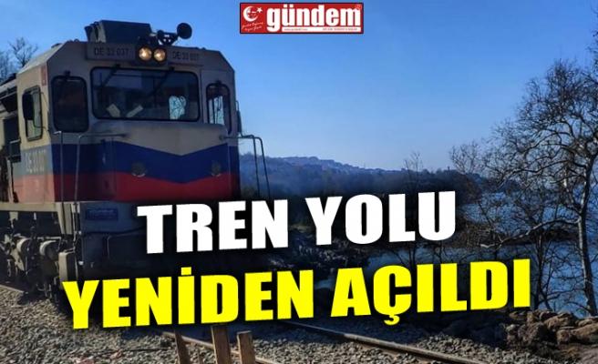 TREN YOLU YENİDEN AÇILDI