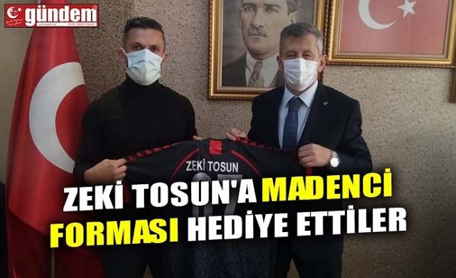 ZEKİ TOSUN'A MADENCİ FORMASI HEDİYE ETTİLER