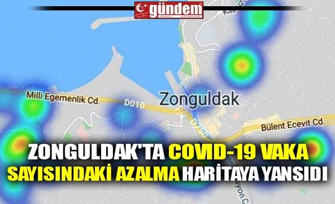 ZONGULDAK'TA COVID-19 VAKA SAYISINDAKİ AZALMA HARİTAYA YANSIDI