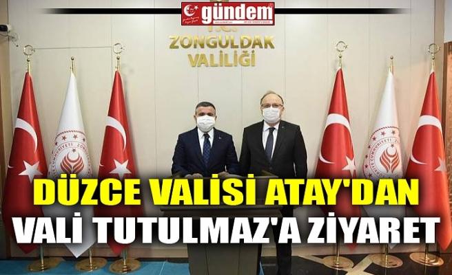 DÜZCE VALİSİ ATAY'DAN VALİ TUTULMAZ'A ZİYARET