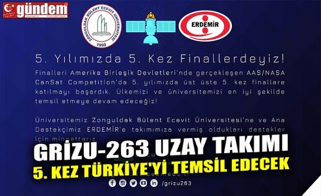 GRİZU-263 UZAY TAKIMI 5. KEZ TÜRKİYE'Yİ TEMSİL EDECEK