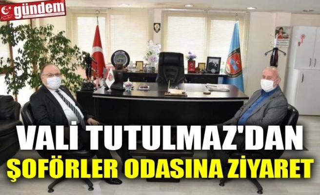 VALİ TUTULMAZ'DAN ŞOFÖRLER ODASINA ZİYARET