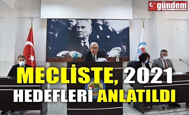 MECLİSTE, 2021 HEDEFLERİ ANLATILDI