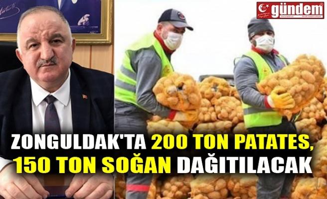 ZONGULDAK'TA 200 TON PATATES, 150 TON SOĞAN DAĞITILACAK