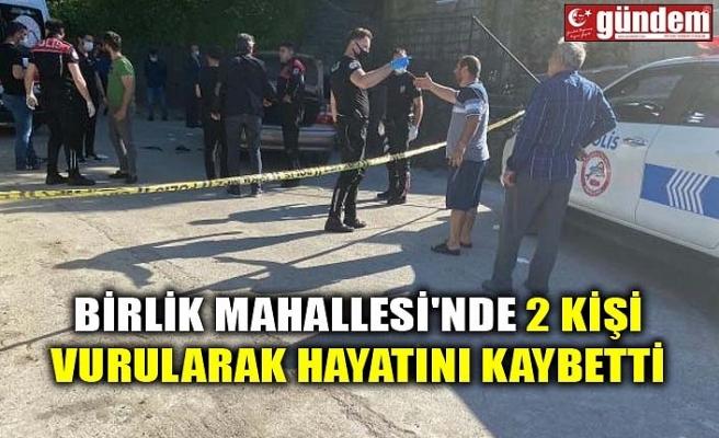 BİRLİK MAHALLESİ'NDE 2 KİŞİ VURULARAK HAYATINI KAYBETTİ