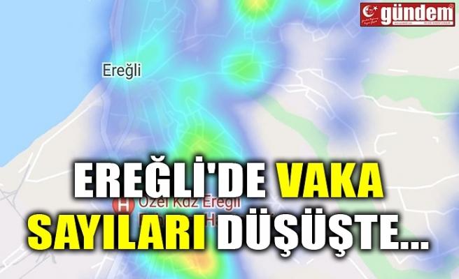 EREĞLİ'DE VAKA SAYILARI DÜŞÜŞTE...