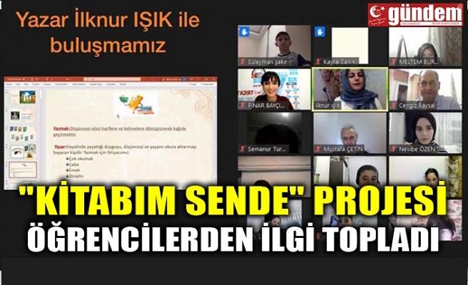 """""""KİTABIM SENDE"""" PROJESİ ÖĞRENCİLERDEN İLGİ TOPLADI"""