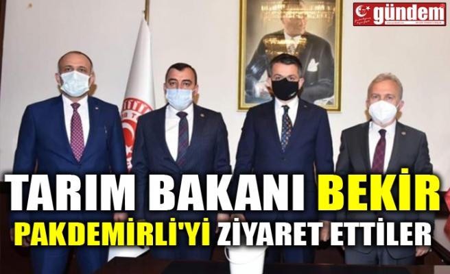 TARIM BAKANI BEKİR PAKDEMİRLİ'Yİ ZİYARET ETTİLER
