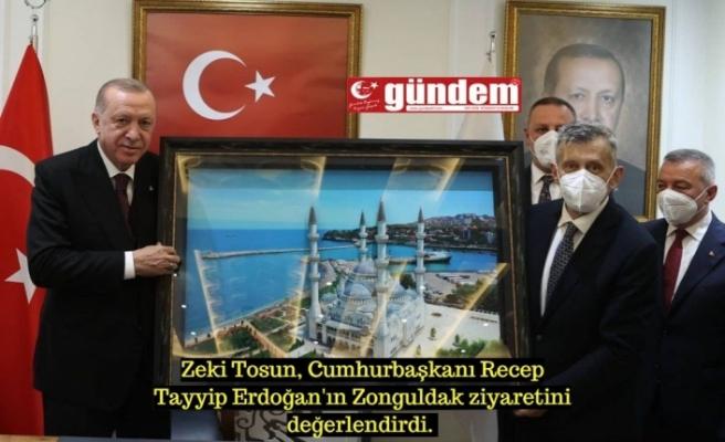 AK Parti İl Başkanı Zeki Tosun, Cumhurbaşkanı Recep Tayyip Erdoğan'ın Zonguldak ziyaretini değerlendirdi.