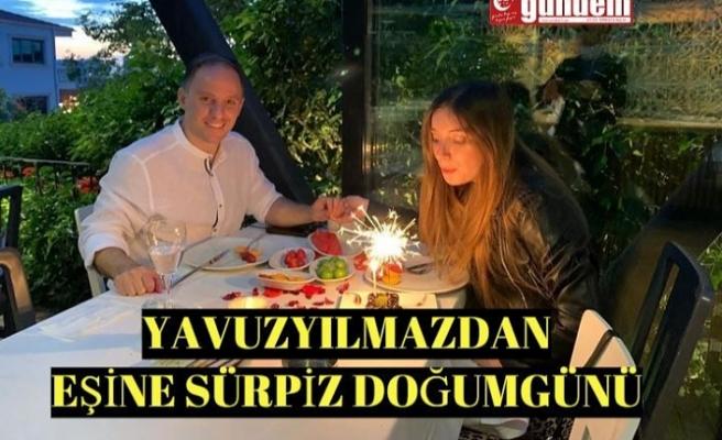 Cumhuriyet Halk Partisi Zonguldak Milletvekili Deniz Yavuzyılmaz eşi Serpil Yavuzyılmaz'a doğum günü sürprizi.