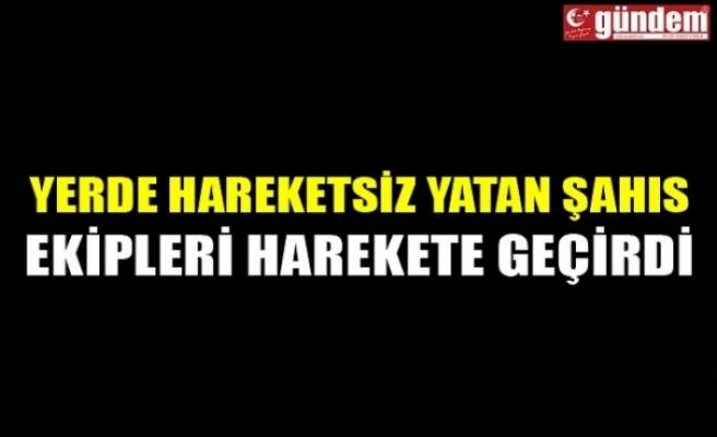 Zonguldak'ın Çaycuma ilçesinde yerde yatan şahıs ekipleri harekete geçirdi.