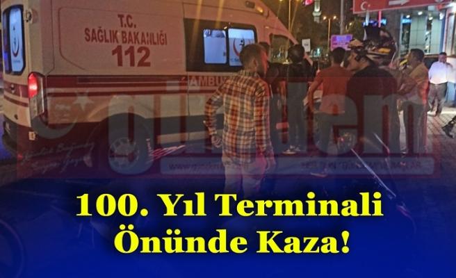 100. Yıl Terminali Önünde Kaza!