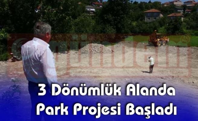 3 Dönümlük Alanda Park Projesi Başladı