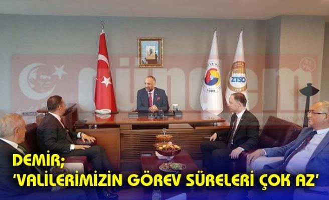 Ahmet Akın, Ticaret ve Sanayi Odası Başkanı Metin Demir'i ziyaret etti