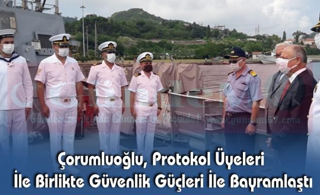 Çorumluoğlu, Protokol Üyeleri İle Birlikte Güvenlik Güçleri İle Bayramlaştı