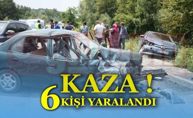 Düzce-Yığılca Yolunda 2 Otomobil Çarpıştı