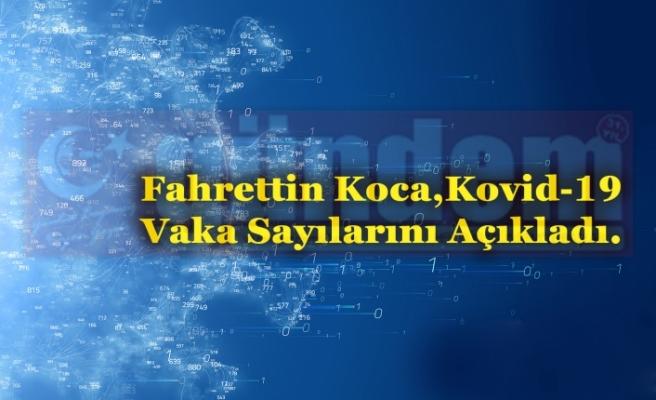 Fahrettin Koca,  Kovid-19 Vaka Sayılarını Açıkladı.