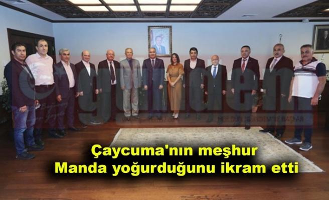 Gençer ve yönetim kurulu üyeleri, İsmail Ergüneş'i ziyaret etti.