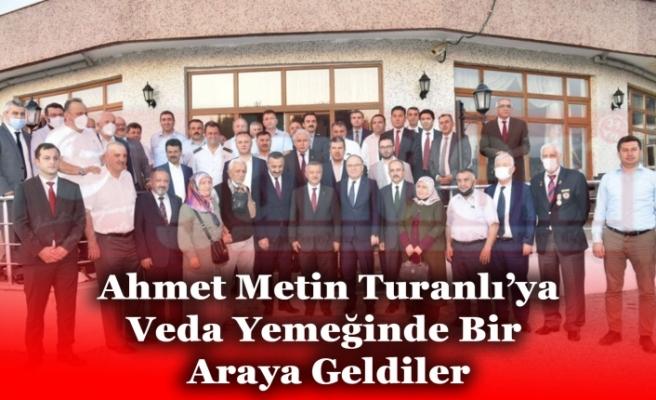 İl Emniyet Müdürü Ahmet Metin Turanlı'ya Polisevi'nde Veda Yemeği Düzenlendi.