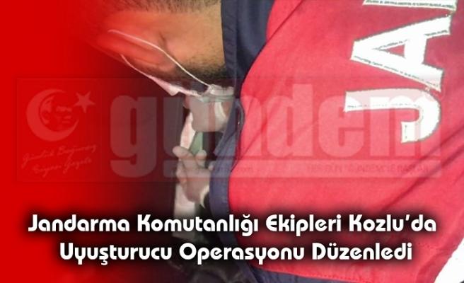 Jandarma Komutanlığı ekipleri Kozlu'da Uyuşturucu Operasyonu Düzenledi