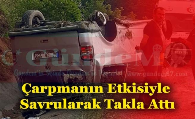 Kayganlaşan Yolda İki Aracın Karıştığı Kazada 3 Kişi Yaralandı.