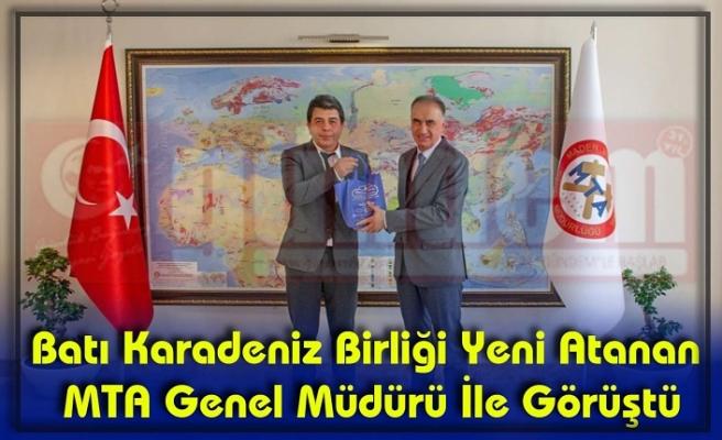 MTA Genel Müdürü  Erdoğan'ı Makamında Ziyaret Ettiler