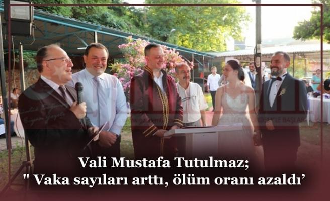 Vali Mustafa Tutulmaz; Katıldığı Nikah Töreninde Açıklamalarda Bulundu
