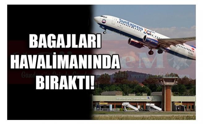 BAGAJLARI HAVALİMANINDA BIRAKTI!