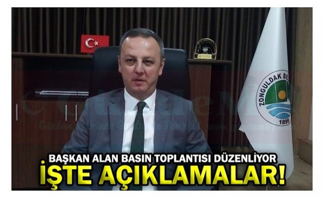 BAŞKAN ALAN BASIN TOPLANTISI DÜZENLİYOR İŞTE AÇIKLAMALAR!