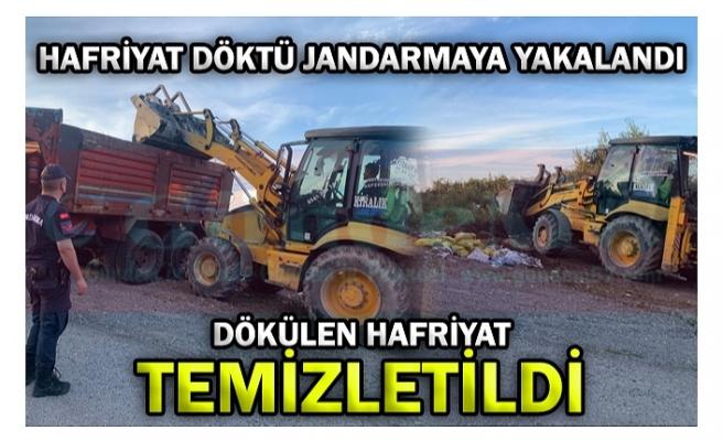 HAFRİYAT DÖKTÜ JANDARMAYA YAKALANDI!