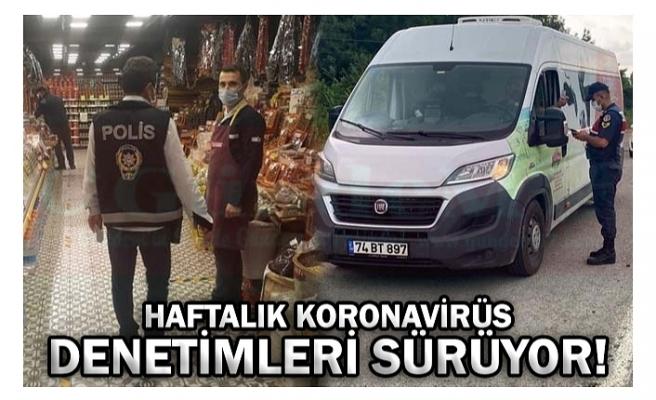 HAFTALIK KORONAVİRÜS DENETİMLERİ SÜRÜYOR!